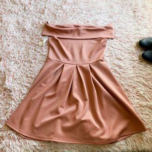 ✨ CR Off Shoulder Scuba Dress